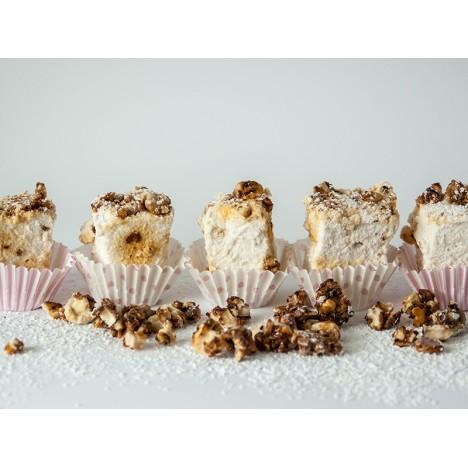 handgemachte Walnuss-Ahornsirup-Marshmallows